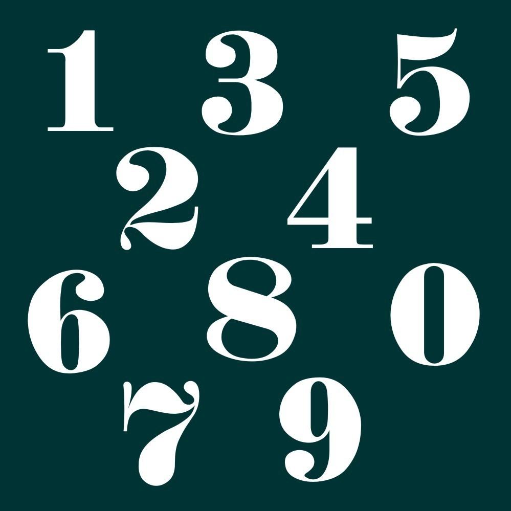 Zahlen Aufkleber Klebezahlen Ziffern Sticker 1 Bis 200 Stück Sa 42 Weiß
