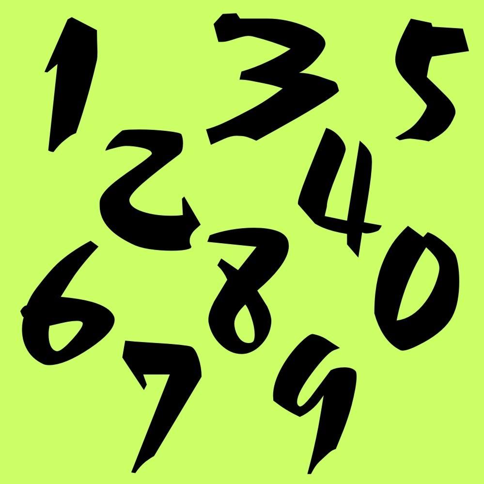 Zahlen Aufkleber Klebezahlen Ziffern Sticker 1 Bis 200 Stück Sa 28 Schwarz