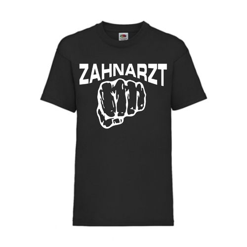 Zahnarzt - FUN Shirt T-Shirt Fruit of the Loom Schwarz F0029