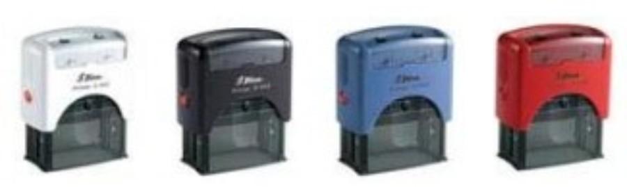 Shiny Printer Schwarz S-842 Büro Stempel Kissen Rot ÜBERWIESEN