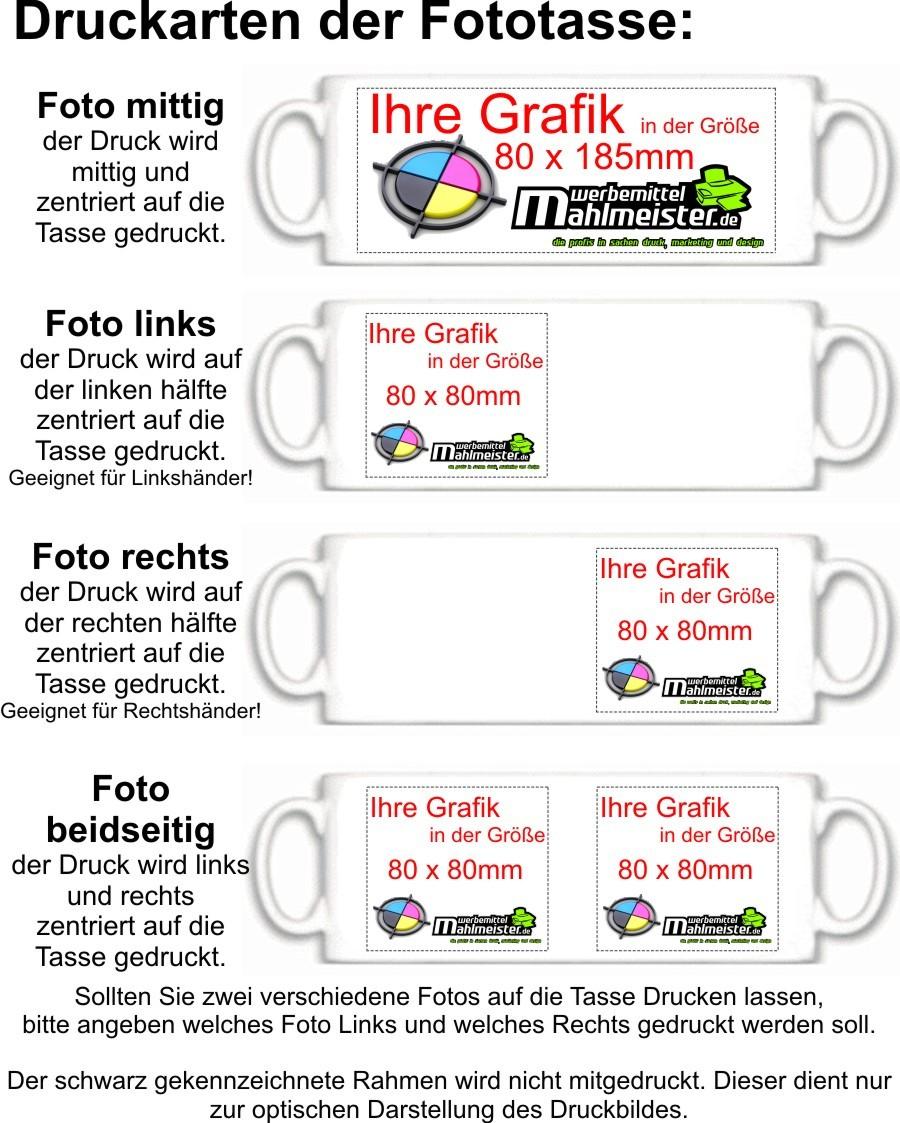 36 Tassen Dunkelgrün Fototassen individuell bedruckt mit Ihrer ...