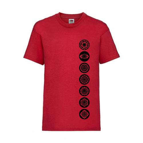 7 Chakren Symbole Esoterik Shirt T-Shirt Fruit of the Loom Rot E0001