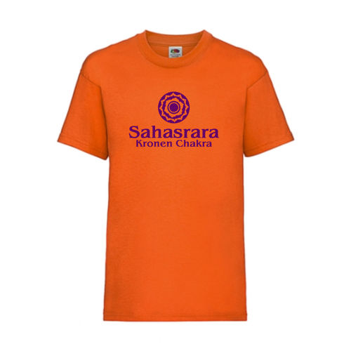 Kronen Chakra Sahasrara Esoterik Shirt T-Shirt Fruit of the Loom Orange E0002