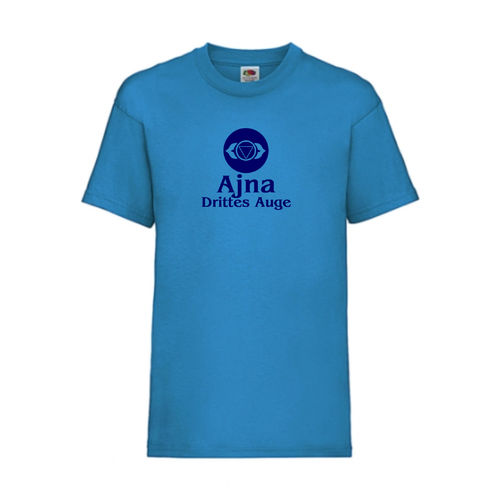 Ajna Drittes Auge Chakra Esoterik T-Shirt Fruit of the Loom Azure E0003