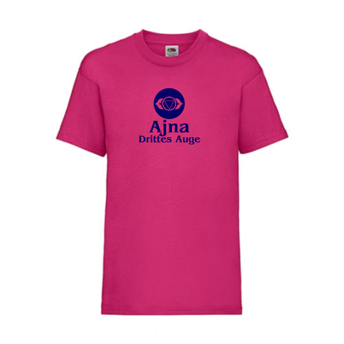 Ajna Drittes Auge Chakra Esoterik T-Shirt Fruit of the Loom Fuchsia E0003