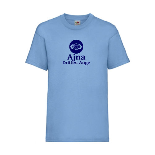 Ajna Drittes Auge Chakra Esoterik T-Shirt Fruit of the Loom Hellblau E0003