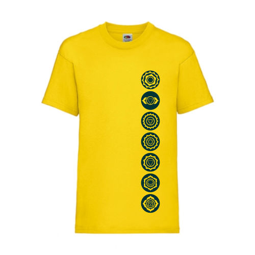 7 Chakren Symbole Esoterik Shirt T-Shirt Fruit of the Loom Gelb E0001
