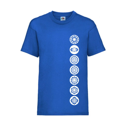 7 Chakren Symbole Esoterik Shirt T-Shirt Fruit of the Loom Royal E0001