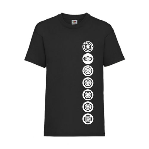 7 Chakren Symbole Esoterik Shirt T-Shirt Fruit of the Loom Schwarz E0001